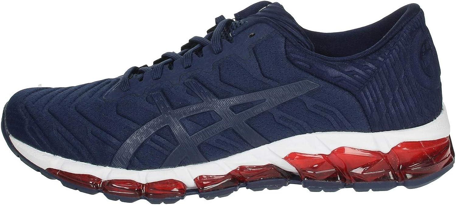 Asics Quantum 360 5 Zapatilla para Correr en Carretera o Camino de Tierra Ligero con Soporte Neutral para Hombre Azul Rojo: Amazon.es: Zapatos y complementos