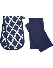 Penguin Home - 3 Piece Oven Glove & Tea Towel Set