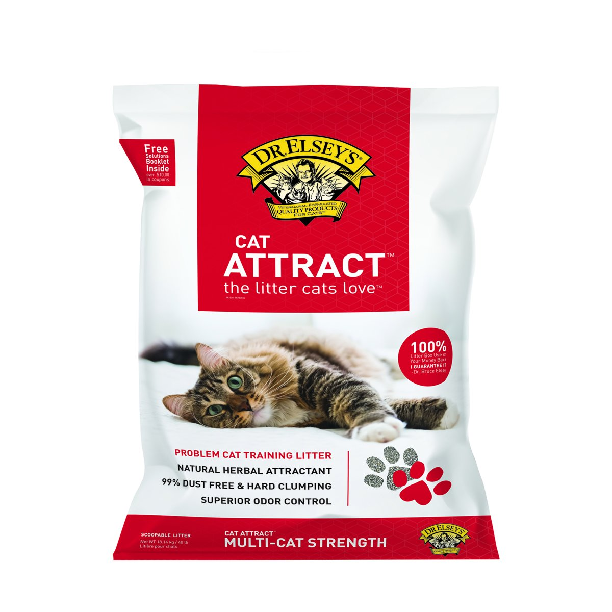 Precious Cat Cat Attract Problem Cat Training Litter, 40 pound bag, Package may vary