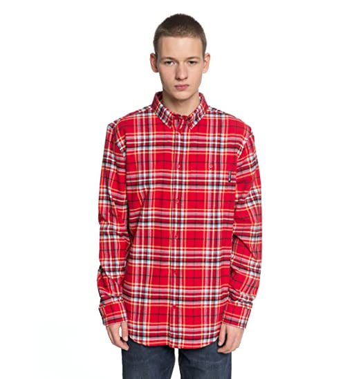587a6874dd4 DC Shoes South Ferry - Long Sleeve Shirt for Men EDYWT03187  DC Shoes   Amazon.co.uk  Clothing