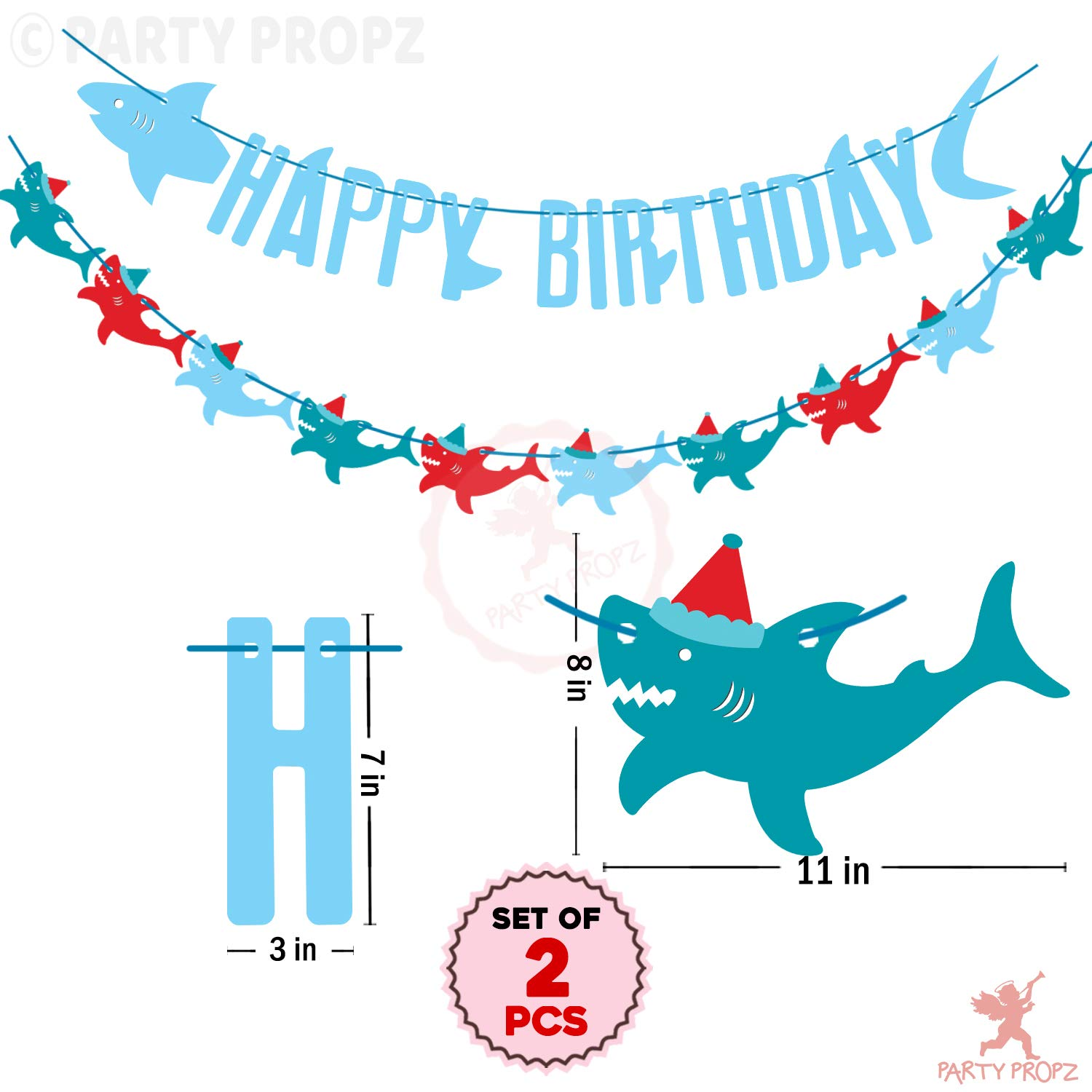 25 pieces Shark Baby Shower Shark Cut Outs Animal Die Cuts Shark Die Cuts Shark Party Supplies Shark Birthday Party Decor Shark Decor Cardstock Paper Part Supplies