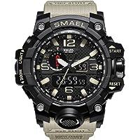 smael impermeable moda reloj de los hombres deporte reloj de cuarzo analógico Dual Display Digital LED Electrónica relojes Relogio Masculino
