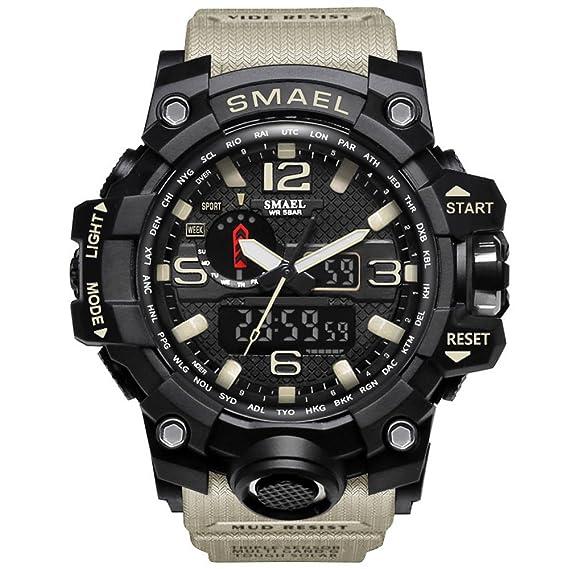 Amazon.com: Richermall Mens Sports Analog Quartz Watch Dual ...
