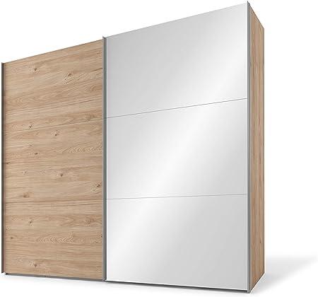 Holzwerkstoff//Metallbeschl/äge Breite 150 cm Basalt//Basalt Express M/öbel Swift Schwebet/ürenschrank