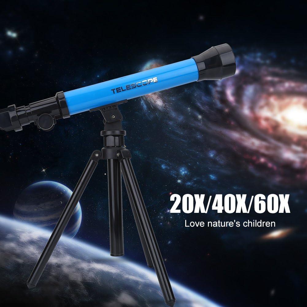 Tosuny Astronomisches Teleskop f/ür Kinder tragbares Teleskop mit Einem faltbaren und verstellbaren Stativ 60X Okularvergr/ö/ßerung f/ür Himmelsbeobachtung und Landschaftsbeobachtung lila 20X 40X