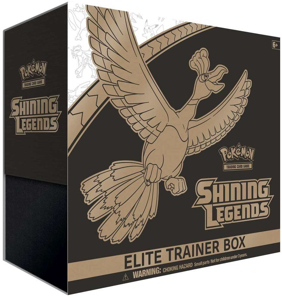 Pokemon Elite Trainer Box Legends Collectible Competition Training Set, Includes 10 Booster Packs, Shining Ho-Oh Foil Card, Player's Guide, 6 Damage Counter Dice and More