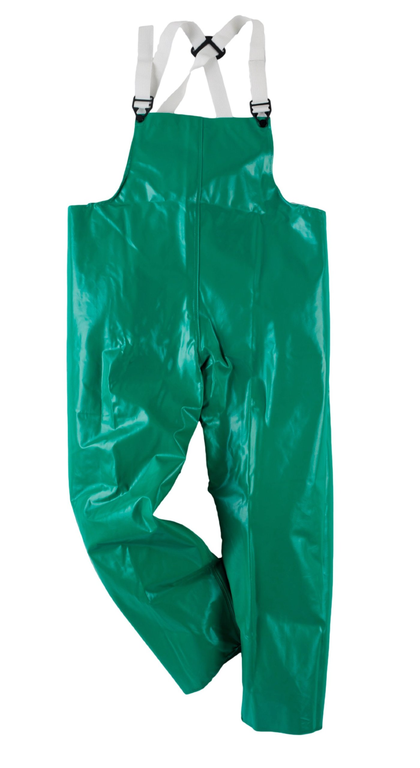 Neese 96BT Flame Resistant PVC/Polyester Chem Shield 96 Bib Trouser, Large, Green