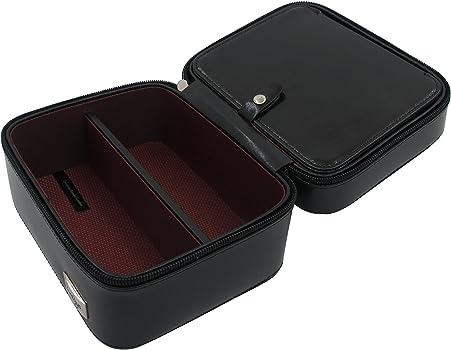 Cordays - Estuche para 2 Relojes y 2 Gafas Caja Organizadora Relojes y Gafas. - Hecho a Mano en Piel - Compacto y Cierre de Cremallera. Ideal para ...