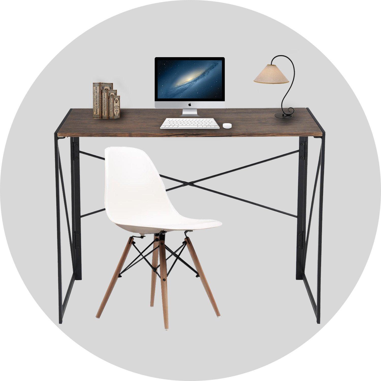 Amazon puter Desk Simple Design Folding Laptop Table For