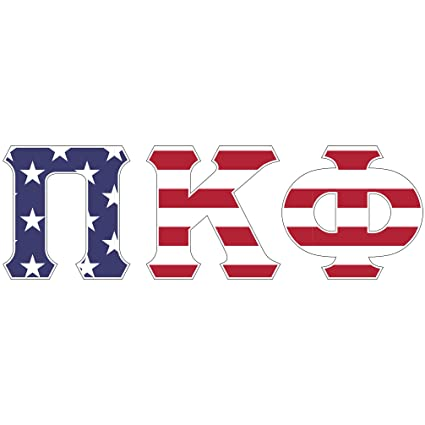 Amazon Pi Kappa Phi Usa Letter Sticker Decal Greek 2 Inches