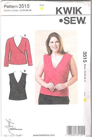 Amazon.de: Kwik Sew geläppt V-Ausschnitt Top Plus Größe Muster von ...