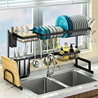 """Dish Drying Rack Over the Sink - Adjustable (24""""-40"""") Large Dish Drainer for Kitchen Storage Counter Organization, 2…"""