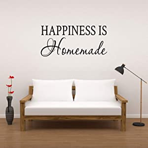 Basicor Happiness is Homemade Wall Decal Kitchen Wall Sticker Happiness Decal Sticker Y38