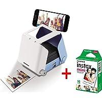 kiipix tm3364Kit Impresora fotográfica para Smartphone con Protector de Pantalla de Fujifilm instax Mini, 10Fotos, Azul