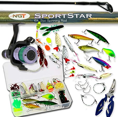 DNA Leisure Starter Fishing 6ft Rod and Reel Spinning Combo
