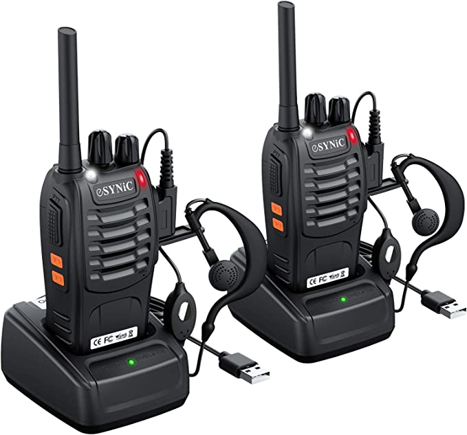 eSynic Walkie Talkies Radio de 2 vías PMR446MHz Walkie Talkie de ...