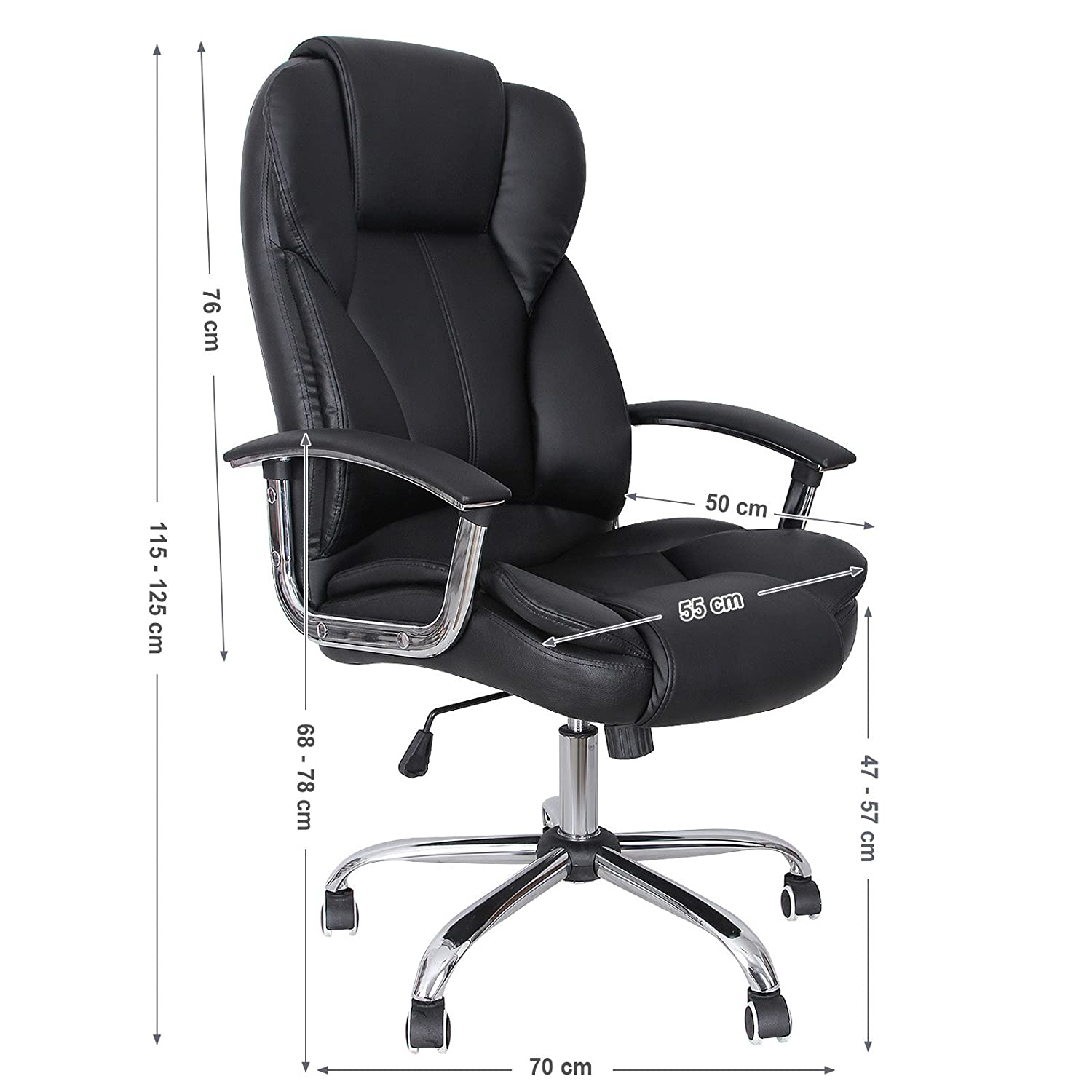 Songmics fice Chair with High Back Seat and Tilt Function