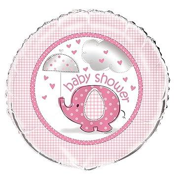 18u0026quot; Foil Pink Elephant Girl Baby Shower Balloon