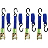 Lift-All Company 26422 Ratchet Assembly U Hook 6.0 Width 10000 Load Hugger Poly Tie Down Yellow 10.0 Length 6.0 Width 2 x 27/' 2 x 27 10.0 Length