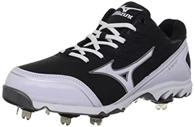 new concept fd19e aa2c4 Mizuno Men s 9-Spike Vapor Elite 6 Baseball Cleats,Black White,10