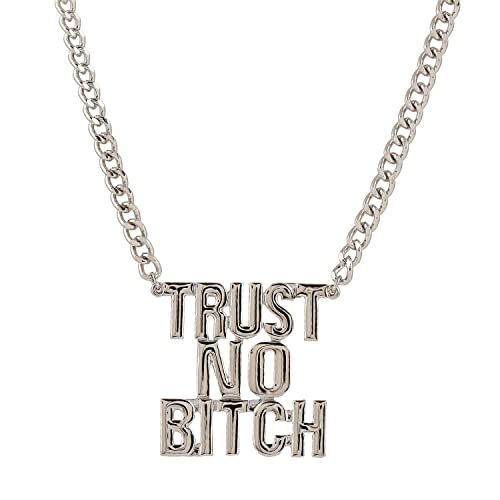 Image Unavailable. Image not available for. Color  D EXCEED Silver  Statement Pendant Trust No Bitch Letter Necklace for Women ... ddcc07e51