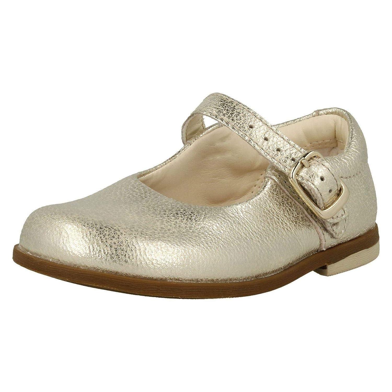 Clarks 3587-36F Drew Sky Metallic Kids First Shoes
