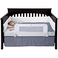 Hiccapop Convertible Crib Toddler Bed Rail Guard (White)