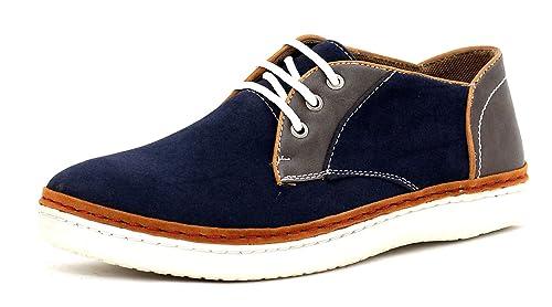 CABALLEROS Zapatos de Diario Imitación Ante Cordones Inteligente Zapatillas: Amazon.es: Zapatos y complementos
