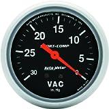 Auto Meter 3484 Sport-Comp Mechanical Vacuum Gauge , 2.625 in.