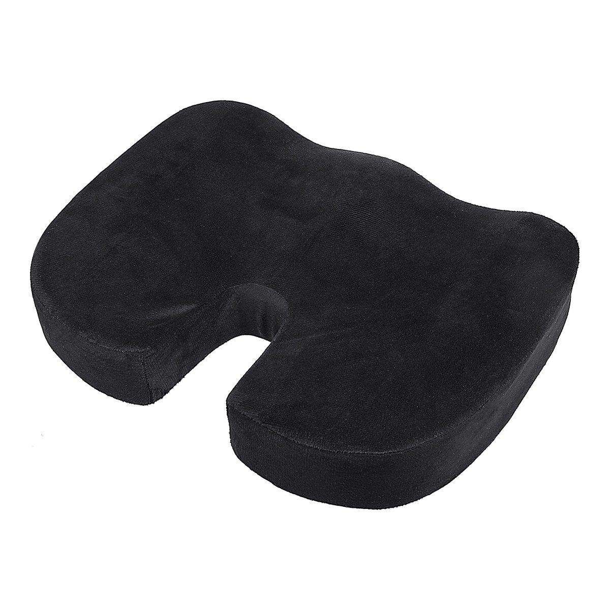 Xidan Cuscino di seduta, schiuma di memoria pura al 100% Cuscino lussuoso del sedile, costruzione ortopedica per alleviare il mal di schiena, il dolore sciatico e il dolore al coccige
