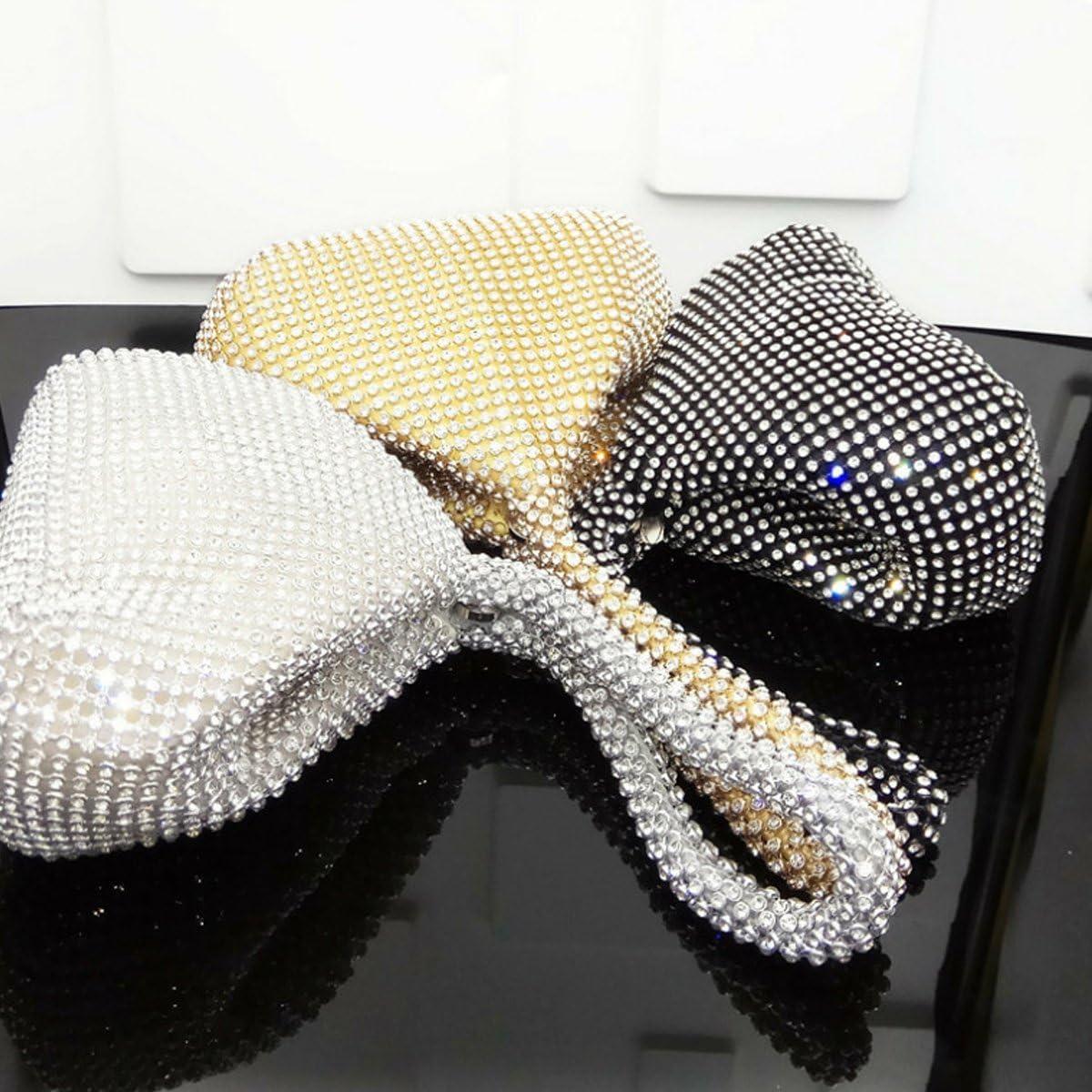 Flada Women Evening Clutch Bag Wedding Party Clutch Purse Handbag with Rhinestone Evening Purse Ladies
