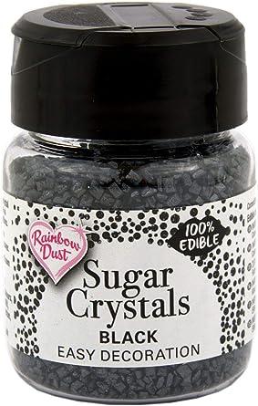 BLACK SPARKLING SUGAR CRYSTALS CAKE SPRINKLES..