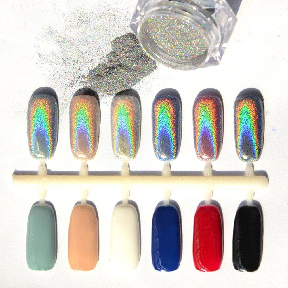 Fancy Holographic Chrome Nail Powder Model - Nail Art Ideas ...