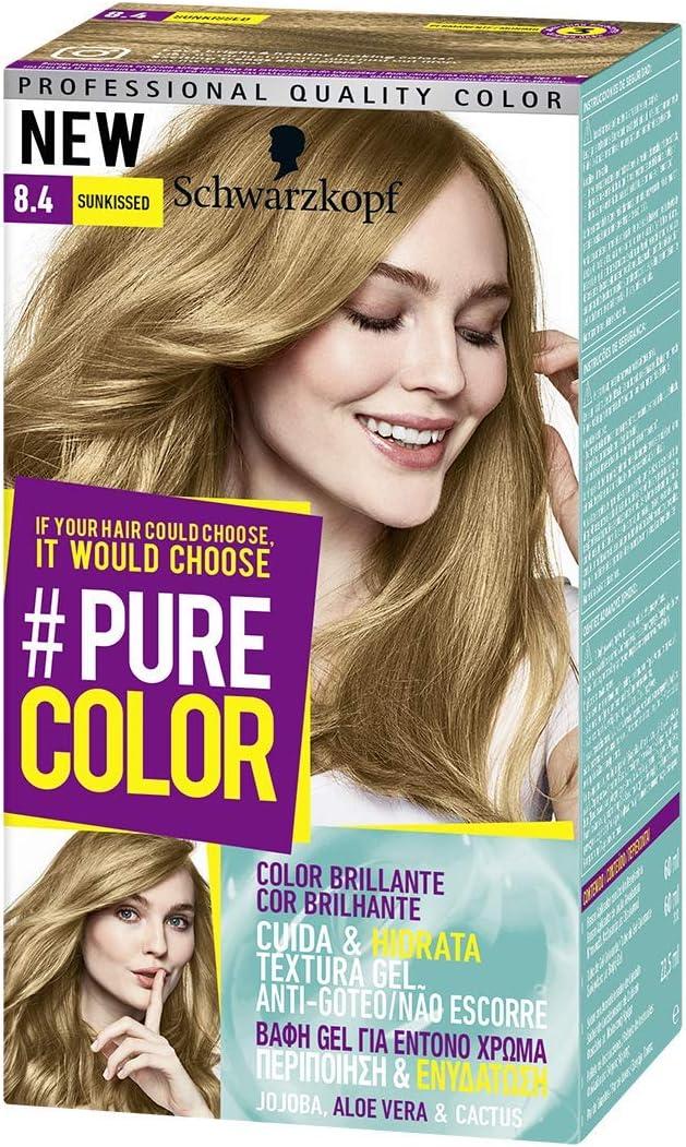 Pure Color de Schwarzkopf Tono 8.4 Sunkissed - 2 uds - Coloración Permamente