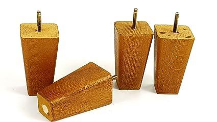 Piedini di ricambio in legno per divani sedie sgabelli vite