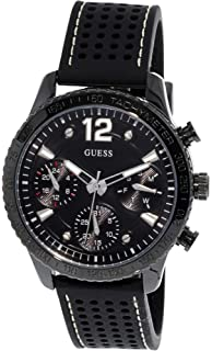 Guess Mens Iconic U1025L3 Black Silicone Japanese Quartz Fashion Watch