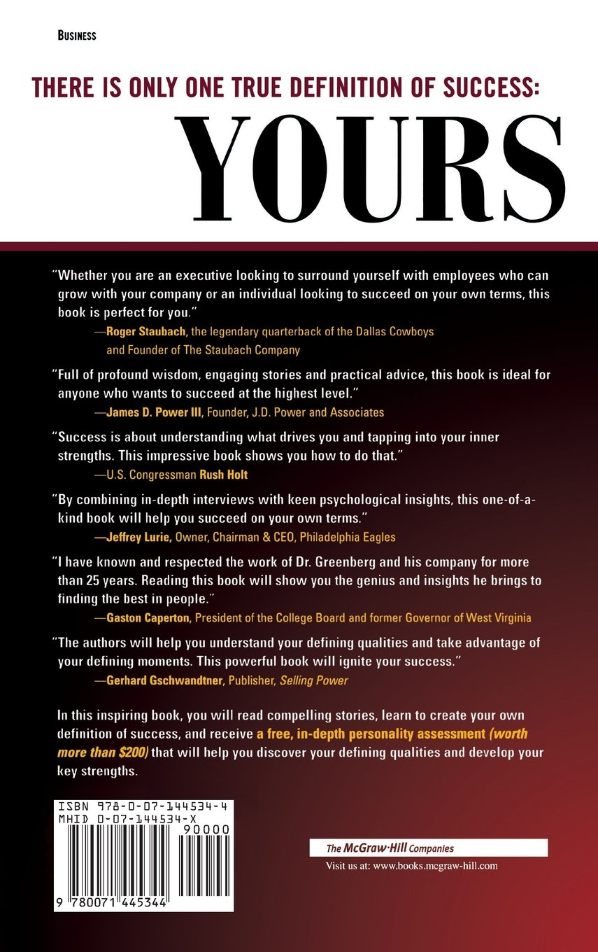 succeed on your own terms management leadership herb succeed on your own terms management leadership herb greenberg patrick sweeney 9780071445344 com books