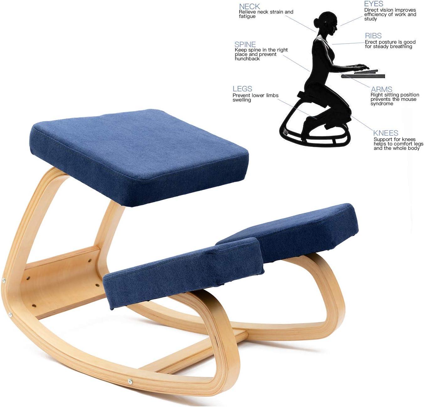 sedia ergonomica in ginocchio