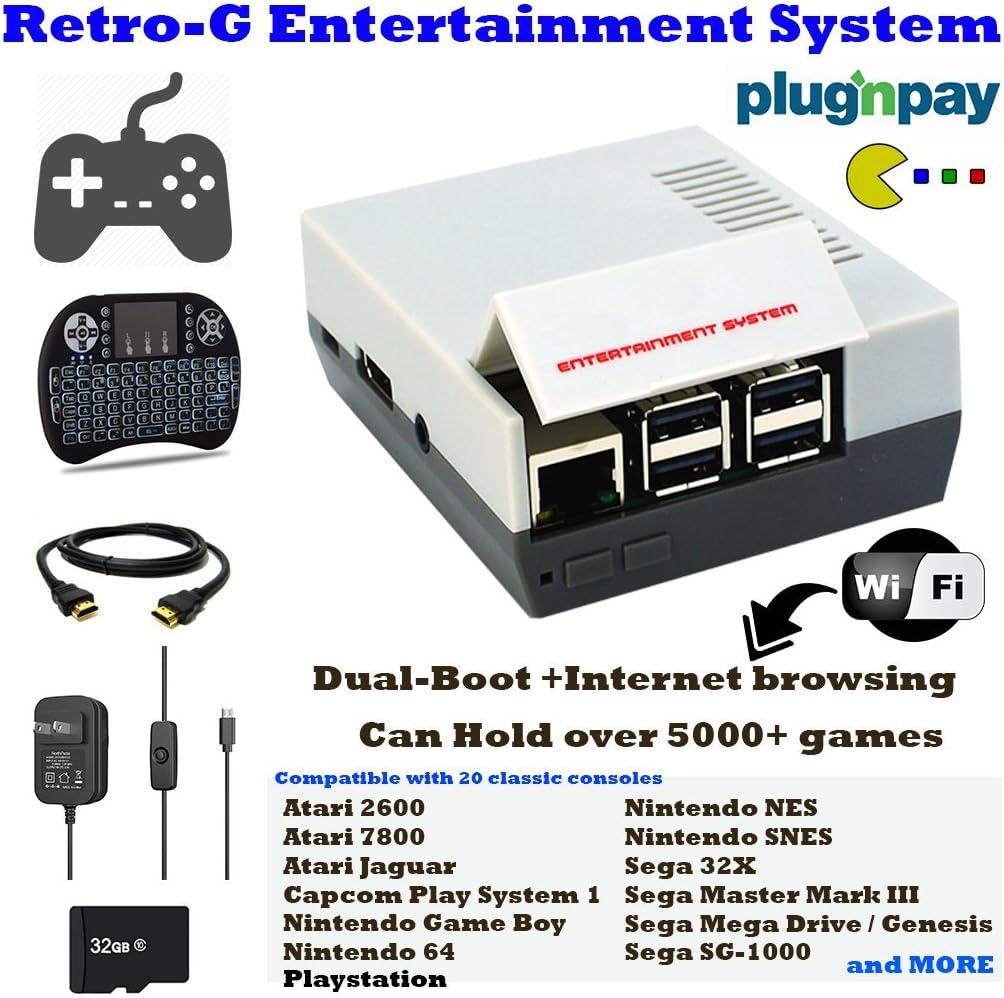 Amazon com: Retro-G Console Emulator mini Styled Classic Games