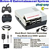 Retro-G Console Emulator mini NES Nintendo Styled Classic Games Entertainment System + Raspbian for Internet Browsing (dual-boot) + All-In-One Bundle + HDMI Video TV