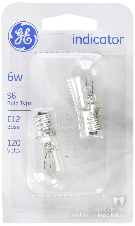 GE Lighting 15820 6-Watt Indicator Light S6 2-Pack