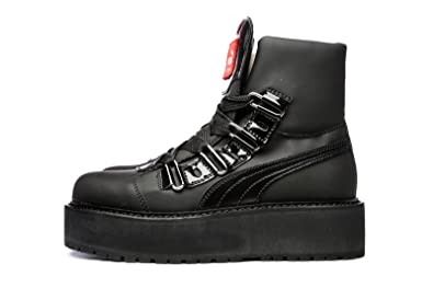 ce540337212 Puma Rihanna Fenty SB Black Eyelet Sneaker Boots Black 363040-01 Adults  Unisex UK 9