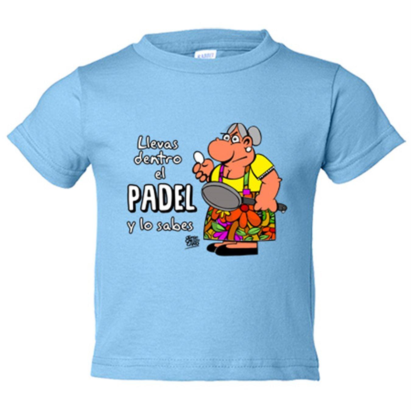 Camiseta niño Padel tenis Llevas dentro el padel y lo sabes ...