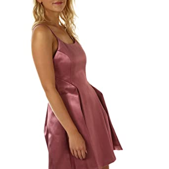 Glamorous Women s Satin Skater Dress Dusty Dusky Pink at Amazon Women s  Clothing store  ef47fac9d