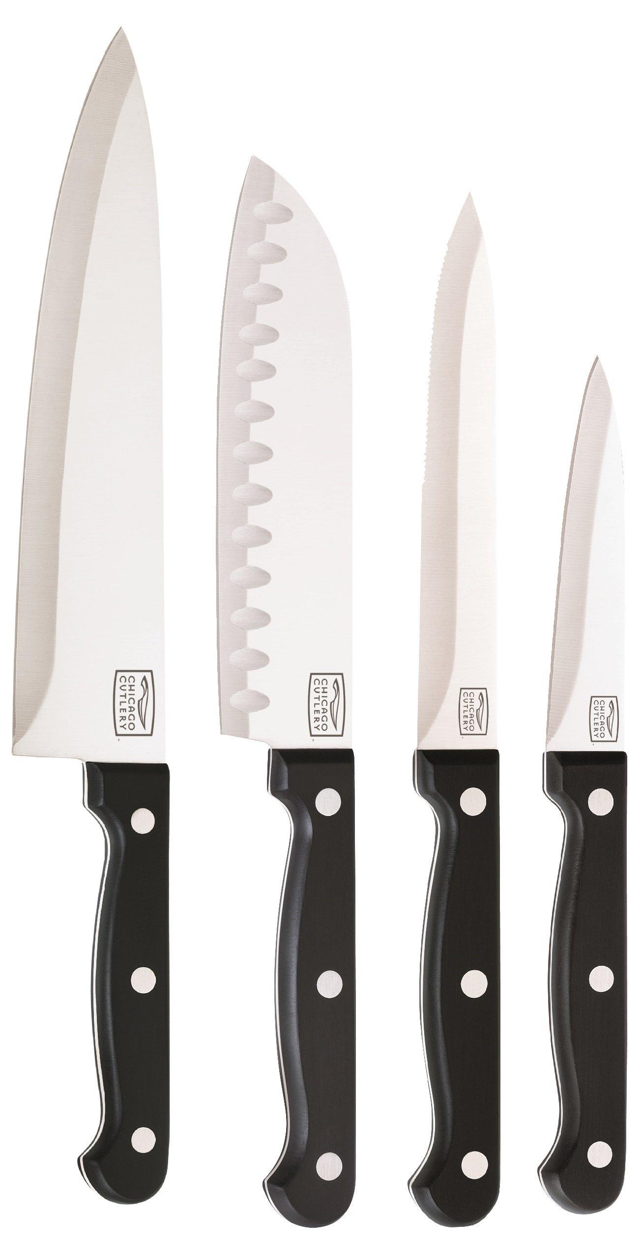 Chicago Cutlery Essentials High-Carbon Blade Knife Set (5-Piece)
