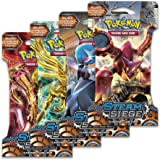 "Pokemon XY11 ""Steam Siege"" 4x Booster Packs = 40 Additional Cards for Pokemon Trading Card Game (English)"