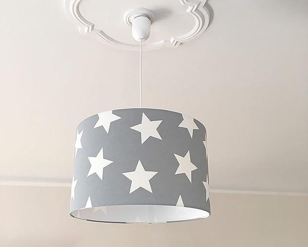 Kinderzimmerlampe Deckenlampe Kinder Sterne grau: Amazon.de ...