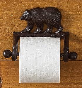 Park Designs Cast Bear Toilet Paper Holder