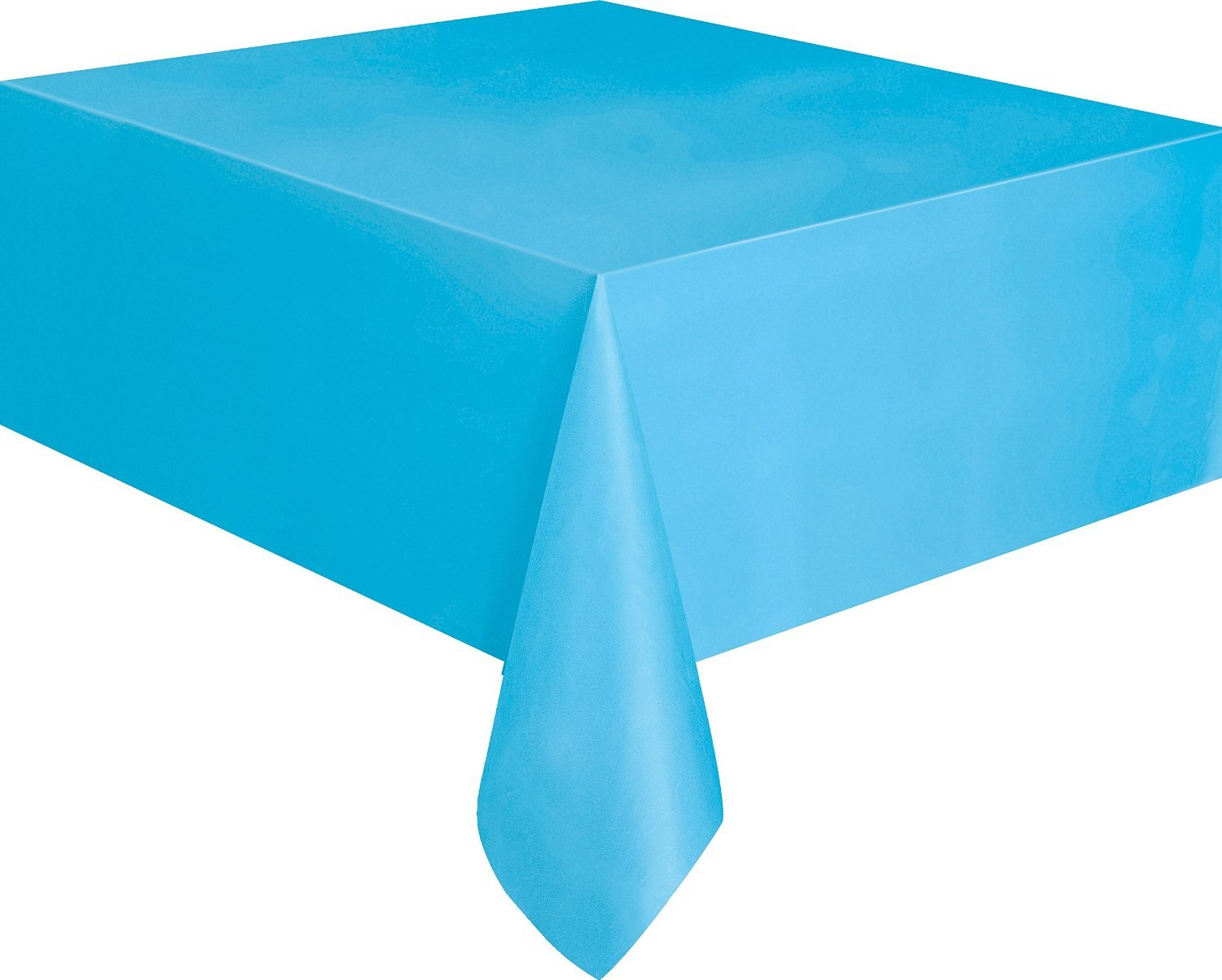 AEX PVC Table Cover Tablecloth Wipe Clean Disposable Plastic Party Tableware Vibrant Plain Colour (Black)
