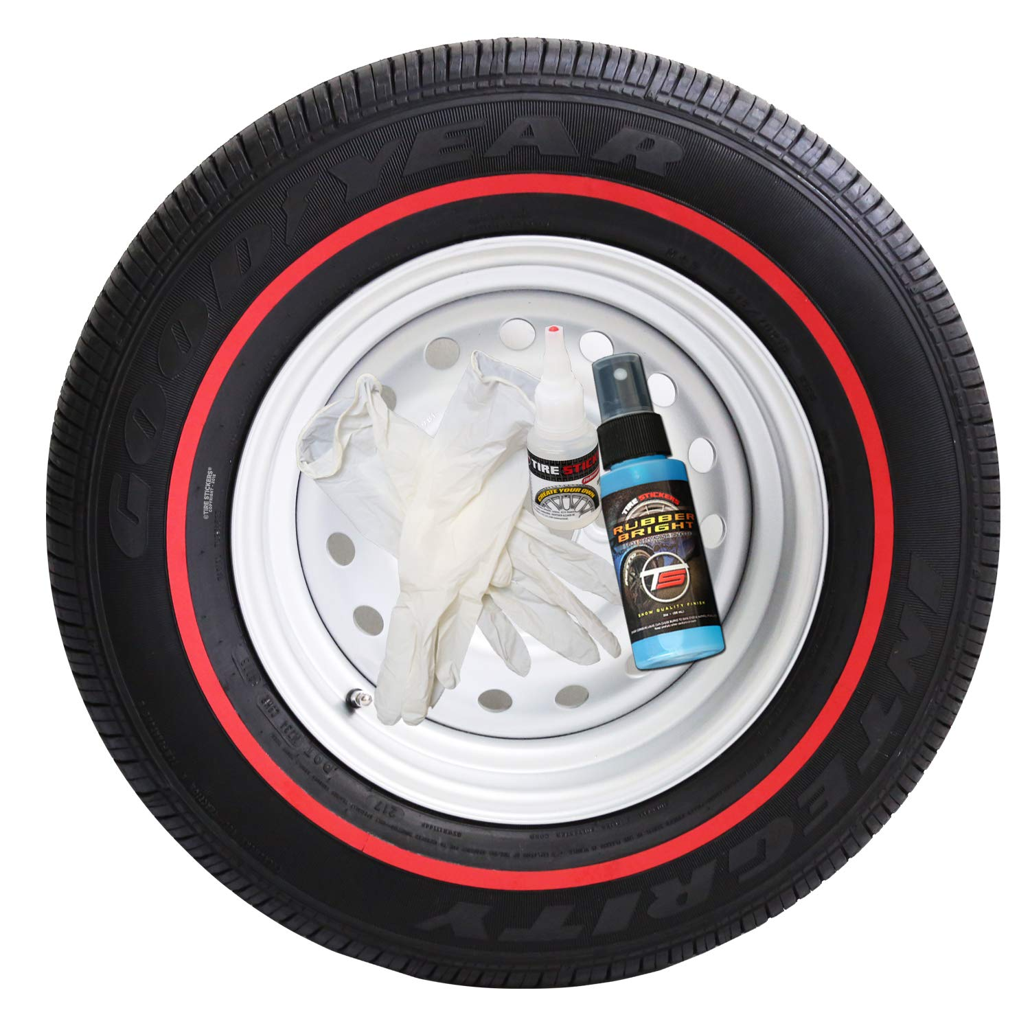 Red Line Tires >> Amazon Com Tire Stickers Red Line Tire Add On Rubber Stripe Kit